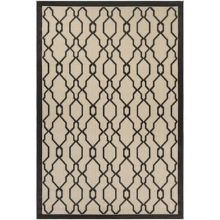 Couristan Five Seasons Byron Bay/ Cream-Black Rug (7'10 x 10'9)