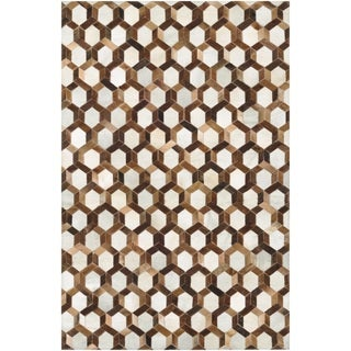 Couristan Chalet Spectrum/ Ivory-Brown Rug (8' x 11'4)