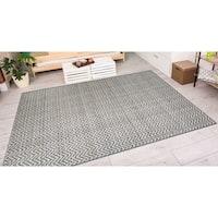 Vector Nianic Brown-Ivory Indoor/Outdoor Area Rug - 7'10 x 10'9