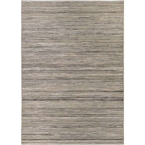 Vector Loft Light Brown Indoor/Outdoor Area Rug - 7'10 x 10'9