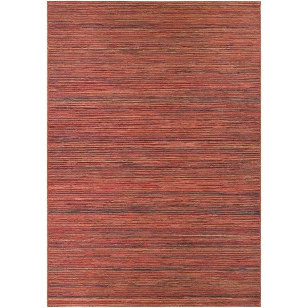 "Vector Loft/ Crimson-Multi Indoor/Outdoor Area Rug - 7'10"" x 10'9"""