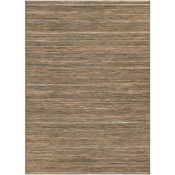Couristan Cape Hinsdale Brown-Ivory Indoor/Outdoor Rug - 7'10 x 10'9