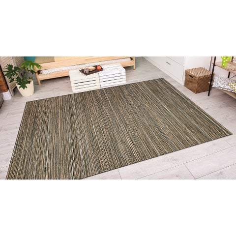 "Vector Loft Brown-Ivory Indoor/Outdoor Area Rug - 7'10"" x 10'9"""