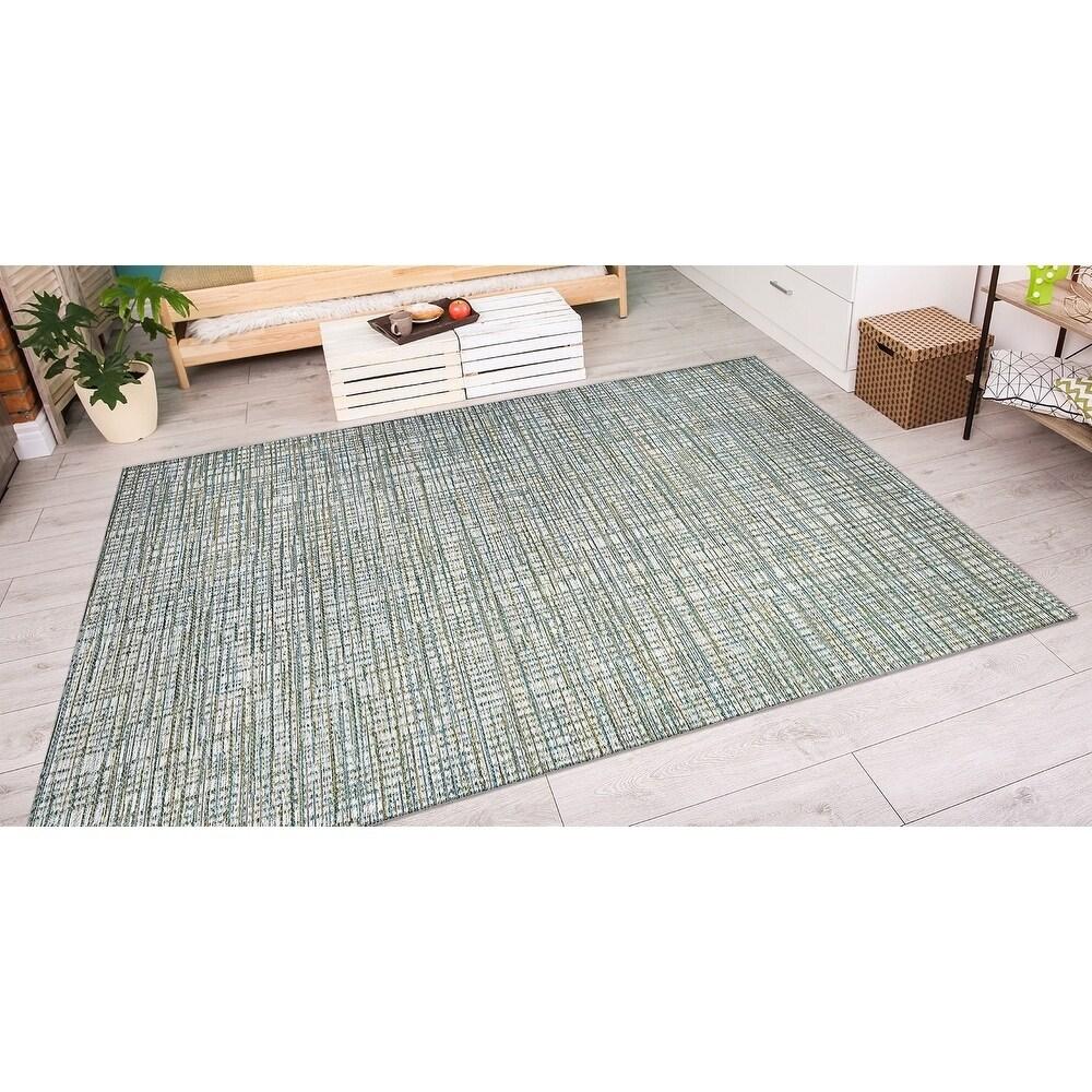 Vector Lewes Ivory-Green Indoor/Outdoor Area Rug - 710 x 109 (710 x 109 - Ivory/Green)