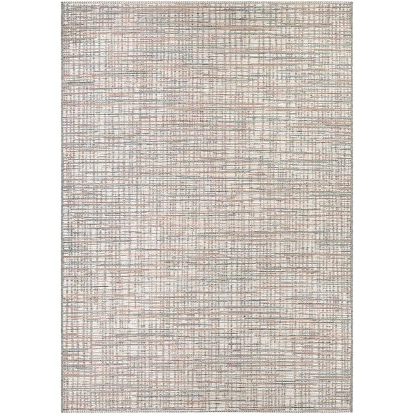 Vector Lewes Ivory-Coral Indoor/Outdoor Area Rug - 7'10 x 10'9