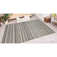 Vector Mendocino Brown-Ivory Indoor/Outdoor Area Rug - 7'10 x 10'9