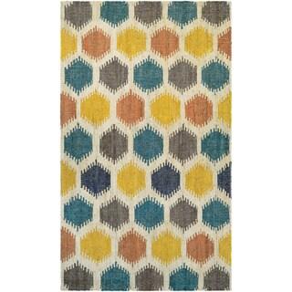 Couristan Mesquite Anson/ Linen-Ocean-Corn Rug (9'6 x 13'6)
