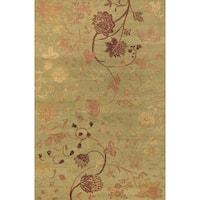 Couristan Impressions Oriental Garden/ Sage-Raspberry Rug - 9' x 12'
