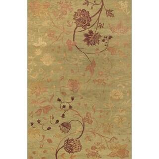 Couristan Impressions Oriental Garden/ Sage-Raspberry Rug (10' x 14')