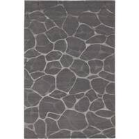 Couristan Impressions Flagstone/ Grey-Silver Rug - 9' x 12'
