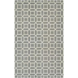 "Couristan Bowery Havemeyer/ Charcoal-Grey Rug (9'5 x 13'4) - 9'5"" x 13'4"""