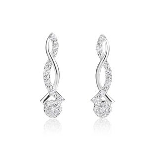 SummerRose 14k White Gold 1/5ct TDW Diamond Earrings (H-I, SI1-SI2)