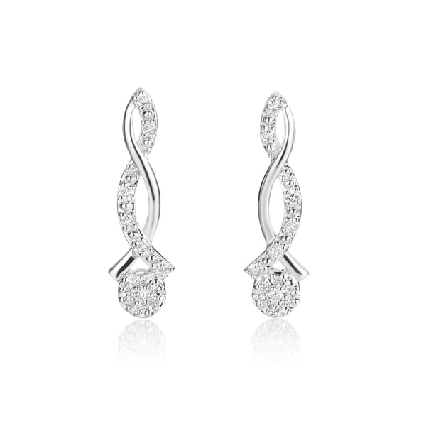 SummerRose 14k White Gold 1/5ct TDW Diamond Earrings