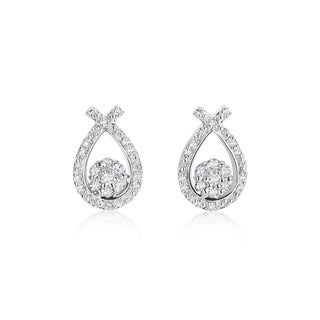 SummerRose 14k White Gold 1/3ct TDW Diamond Earrings (H-I, SI1-Si2)