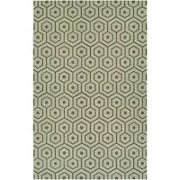 Couristan Bowery Ainslie/ Brown-Green Rug (9'5 x 13'4)