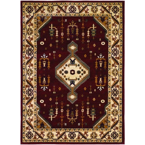 "Couristan Anatolia Tribal Diamond/ Red-Cream Rug (9'8 x 13'1) - 9'8"" x 13'1"""