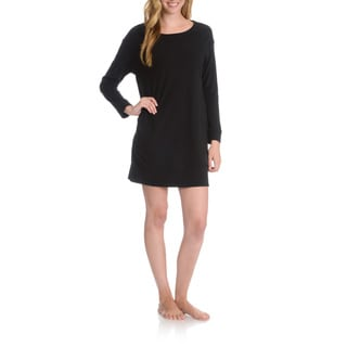 La Cera Women's 3/4 Sleeve Nightshirt