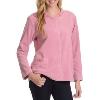 La Cera Women's /Embroidery Detail Lounge Jacket (3 options available)