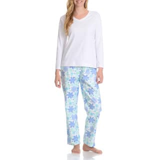 La Cera Women's Snowflake Pant Pajama Set|https://ak1.ostkcdn.com/images/products/10423690/P17522656.jpg?impolicy=medium