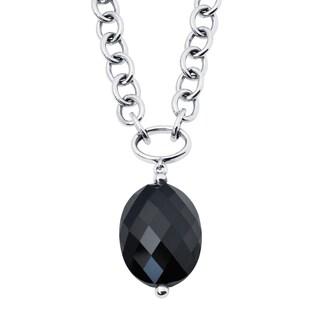 Boston Bay Diamonds 18k Rose Gold & 925 Sterling Silver Black Onyx Pendant w/ Chain