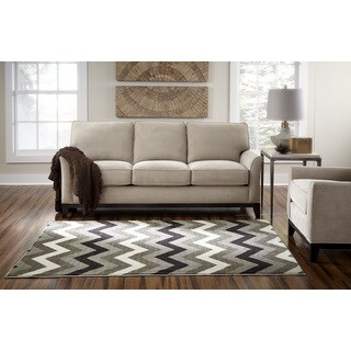 Spaces by Welspun Contemporary Chevron Natural Area Rug (2' x 5')