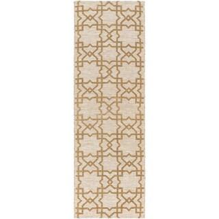 Hand-woven Ipswich Geometric Runner Rug (2'6 x 8')