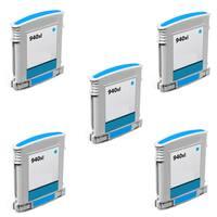 940XL C (C4907AN) Compatible Inkjet Cartridge For HP OfficeJet Pro 8000 OfficeJet Pro 8500 (Pack of 5)