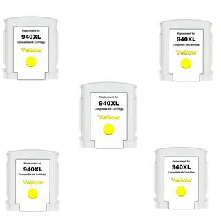 940XL Y (C4909AN) Compatible Inkjet Cartridge For HP OfficeJet Pro 8000 OfficeJet Pro 8500 (Pack of 5)