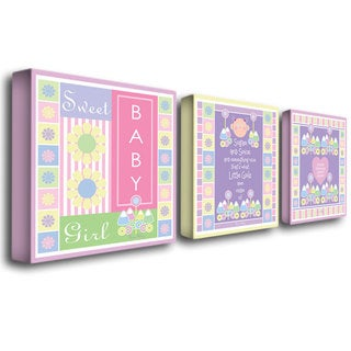 Grace Riley 'Sweet Baby Girl' Canvas Art Set
