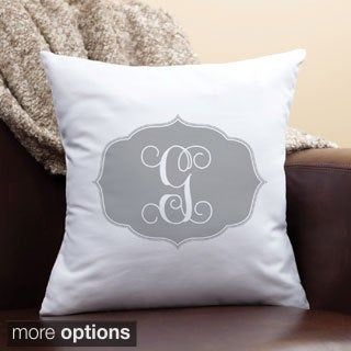 My Grey Initial Personalized Pillow