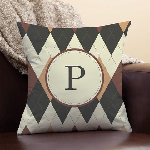 Argyle Personalized Pillow