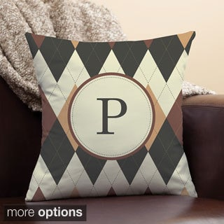 Argyle Personalized Pillow