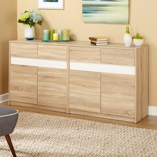 Simple Living Mandy Buffet/ Credenza (2 Piece - Off White)