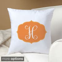 My Orange Initial Personalized Pillow