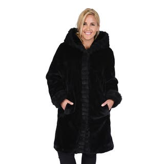 Excelled Women's Plus Faux Fur 3/4 Length|https://ak1.ostkcdn.com/images/products/10424071/P17522988.jpg?impolicy=medium