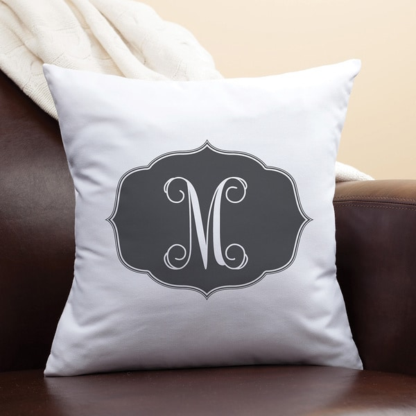 My Black Initial Personalized Pillow