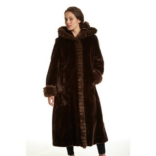 Link to Excelled Women's Faux Fur Hooded Full Length Coat Similar Items in Women's Outerwear
