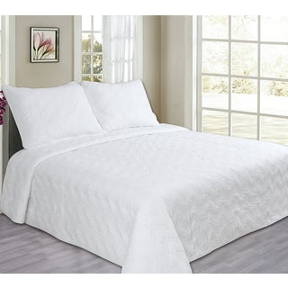 Silver Orchid Dunne Chevron Quilted Cotton 3-piece Quilt Set (3 options available)