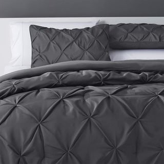 eLuxurySupply Pinch Pleat  Microfiber and Polyester Comforter Set
