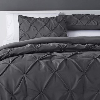 Kotter Home Pinch Pleat Pintuck Comforter Set