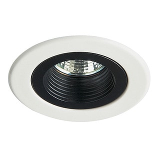 Dainolite White Mini Down-Light Trim with Black Baffle
