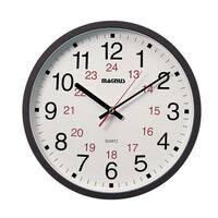 Dainolite 12/24 Hour Black Clock with Sweep Style Second Hand