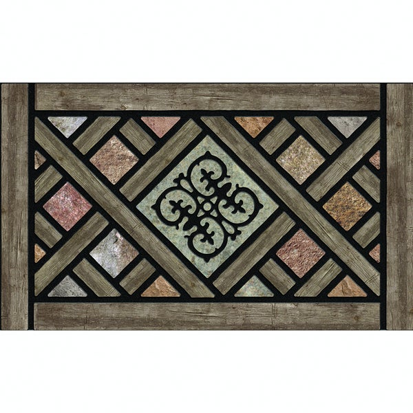 "Outdoor Rustic Lattice Doormat (18"" x 30"")"