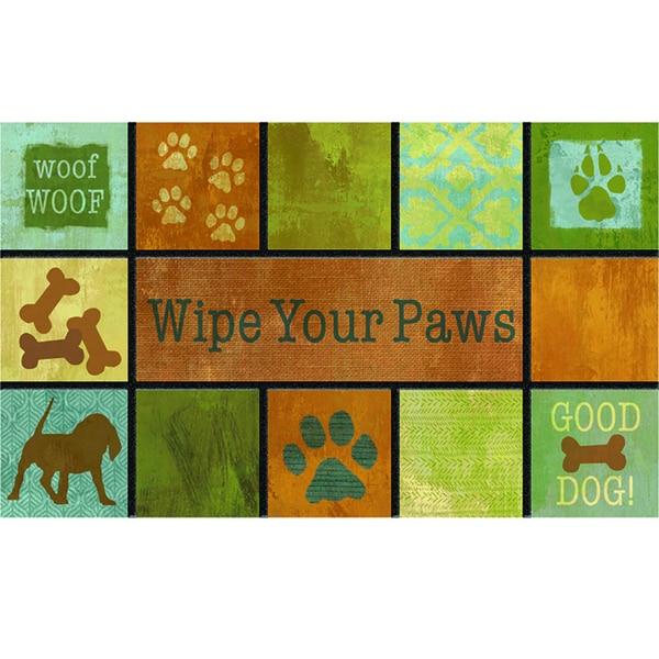 """Outdoor Woof Woof Doormat (18"""" x 30"""")"""