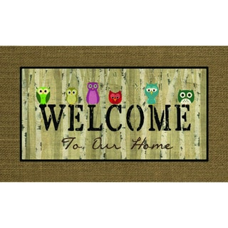 "Outdoor Welcome Owls Doormat (18"" x 30"")"