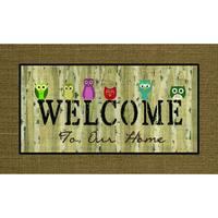 """Outdoor Welcome Owls Doormat (18"""" x 30"""")"""