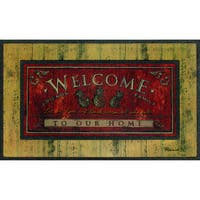 "Outdoor Welcome Sign Doormat (18"" x 30"")"