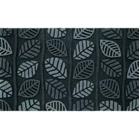 "Outdoor Retro Leaves Grey Doormat (18"" x 30"")"