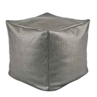 Glade Runner Steel 12.5-inch Square KE Beads Hassock Pouf