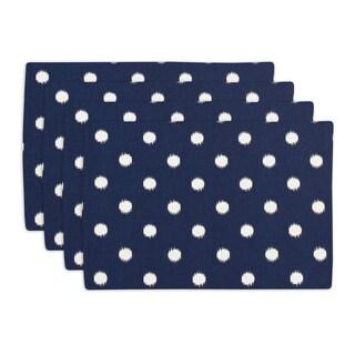 Ikat Dot Sunshine Blue Lined Placemat (Set of 4)